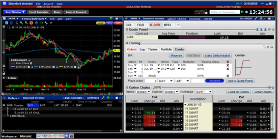Trader workstation paper trading to live trading